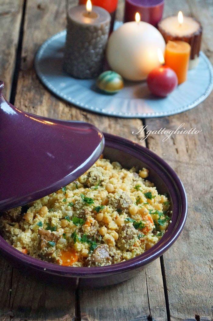 Tajine di manzo con ceci e cous cous: l'idea golosa di Giusy dal sapore orientale. #ricetta #Oriente