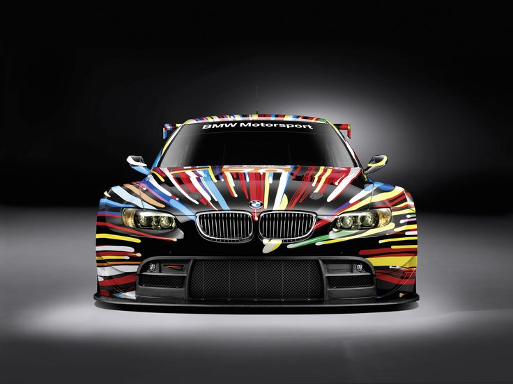 I never get tired of looking at this BMW that artist Jeff Koons did.