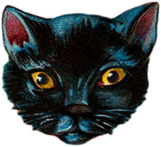 **FREE ViNTaGE DiGiTaL STaMPS**: Free Vintage Printable - Halloween Cat