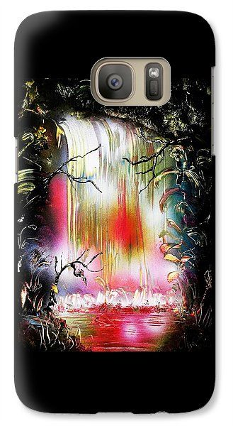 Dream Waterfall Galaxy S7 Printed with Fine Art spray painting image Dream Waterfall by Nandor Molnar (When you visit the Shop, change the orientation, background color and image size as you wish)