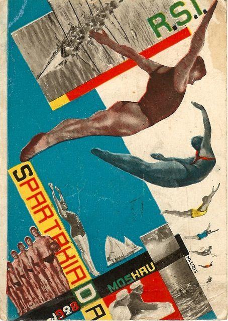 Gustav Klutsis, Postcard for the All Union Spartakiada Sporting Event, 1928.