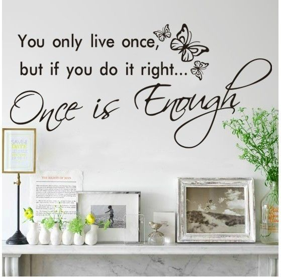Details about you only live once adesivo de parede wall sticker vinyl decal home room decor 8144 Remonable wall stickers quote-in Wall Stickers from Home & Garden on Aliexpress.com | Alibaba Group