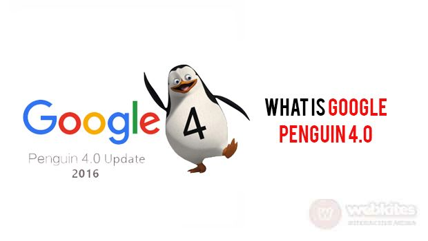 Google Penguin 4.0 is now live. Finally, Google announced its Penguin algorithm update on 23-Sep-2016 officially on their webmaster blog page. To know more visit http://www.webkites.in/blog/what-is-google-penguin-4-0/