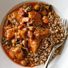 Try the Pork Braised with Sautéed Kale, Chickpeas and Tomatoes Recipe on williams-sonoma.com/