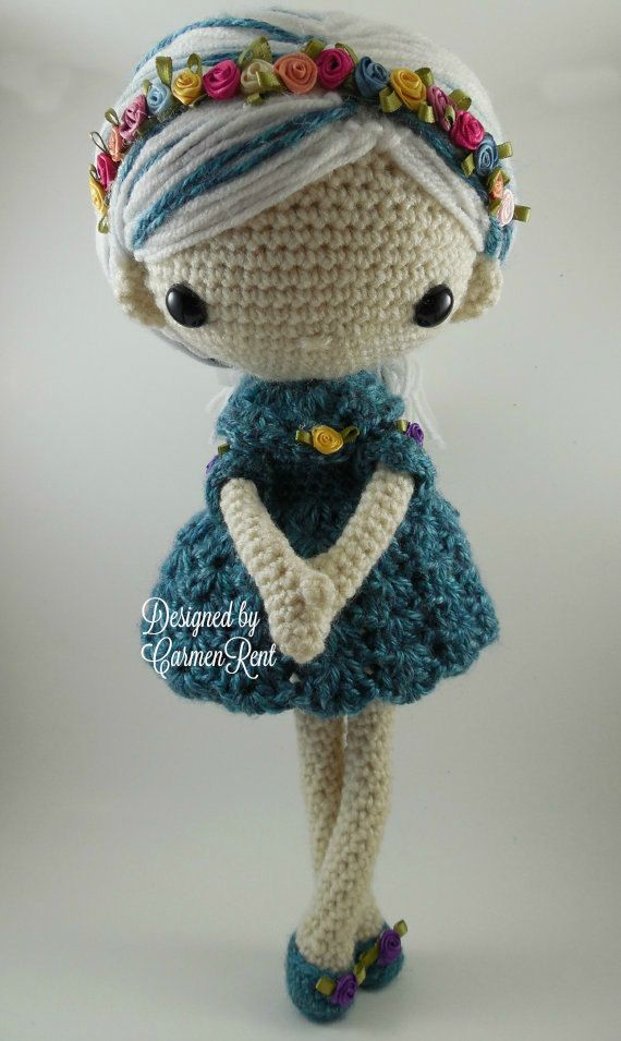 Azul Amigurumi Doll Crochet Pattern PDF by CarmenRent on Etsy