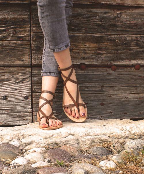 Roman Brown Boho Sandal. #boho chic #sandals #shoes