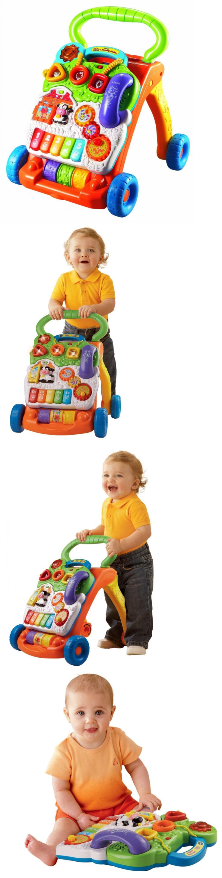 Developmental Baby Toys 100227: Vtech Toys Sit To Stand Learning Walker, Interactive Activity Panel Baby Walker -> BUY IT NOW ONLY: $35.31 on eBay!