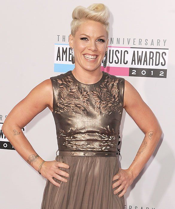 It's Pink!    Born Alecia Beth Moore, Pink reinvented herself into a pop superstar. The award-winning artist has a closet full of Grammys, American Music Awards, and MTV Awards, as well as a rabid fan base.    Now the face of Covergirl, Pink has transformed herself yet again. Along with motocross racer Carey Hart, she is the mom to daughter Willow Sage.