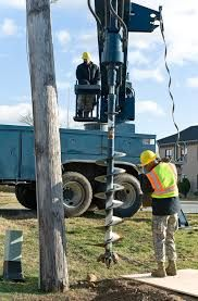 Image result for utility truck pole auger