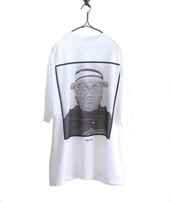 BROADCAST THE MESSAGE x KASUYA フォトプリントビッグTシャツ BOLIVIA(WHITE) - FLORAISON