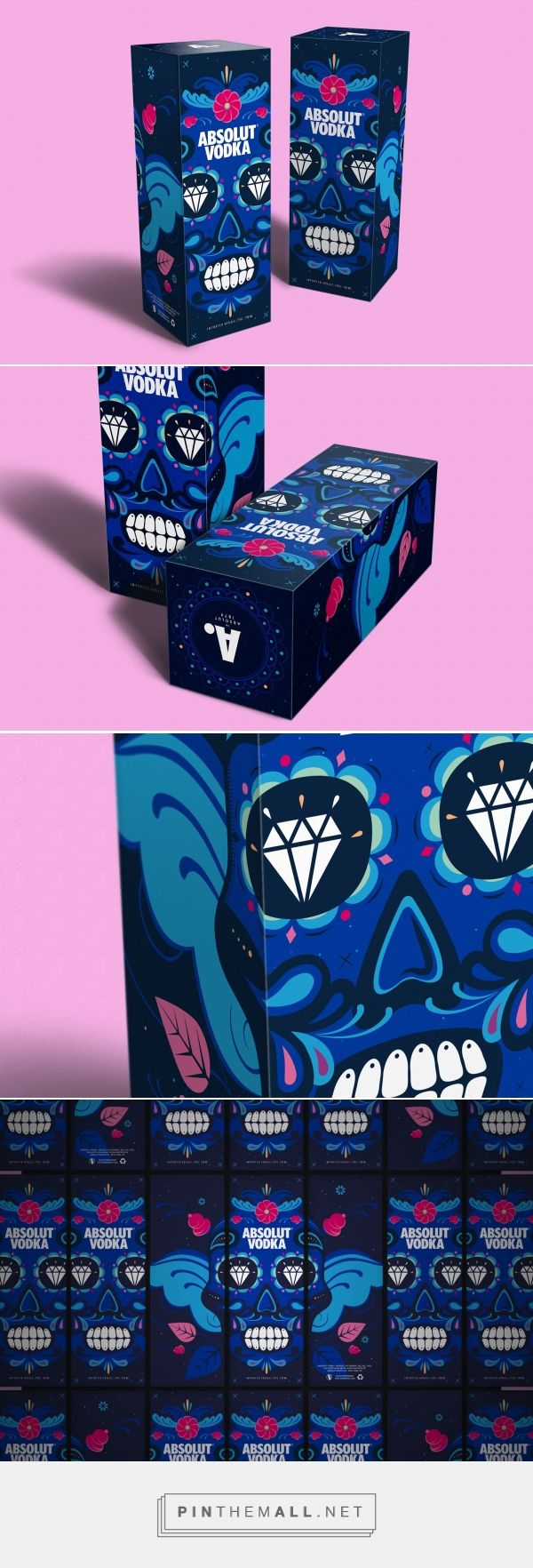 Absolut Vodka Dias De Los Muertos gift pack design by Sunny at Sea - http://www.packagingoftheworld.com/2017/11/absolut-vodka-dias-de-los-muertos.html
