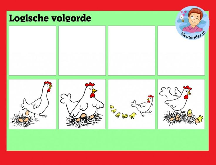 Logische volgorde met kleuters op digibord of computer, kleuteridee / logical order  game for preschoolers in IWB or computer