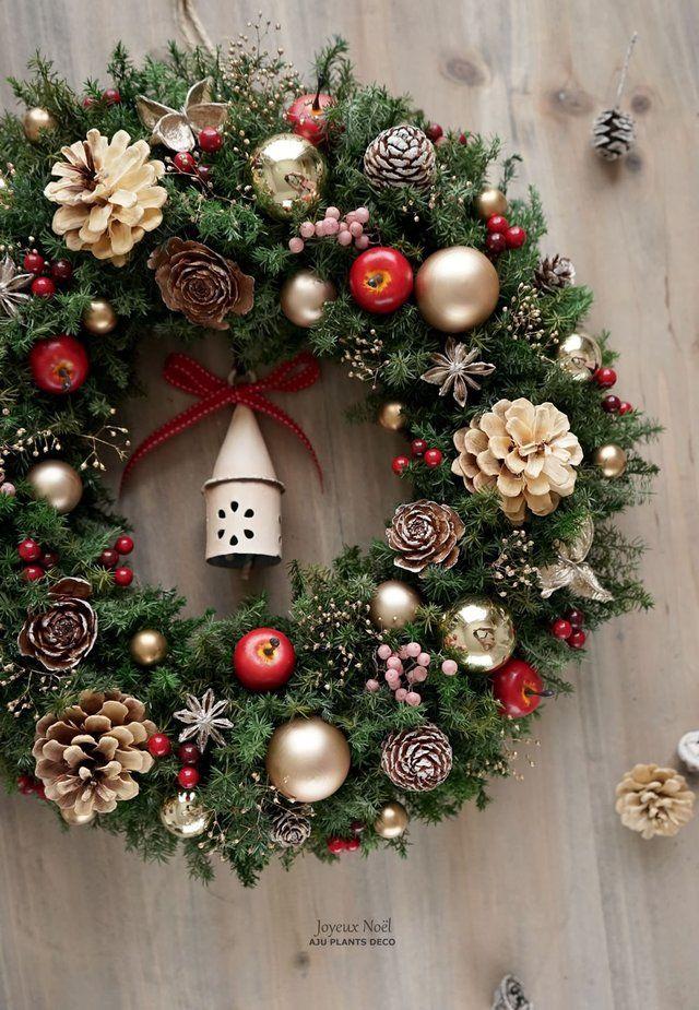 クリスマスリース(4317)~Happy holidays!~ 36cmの画像1枚目