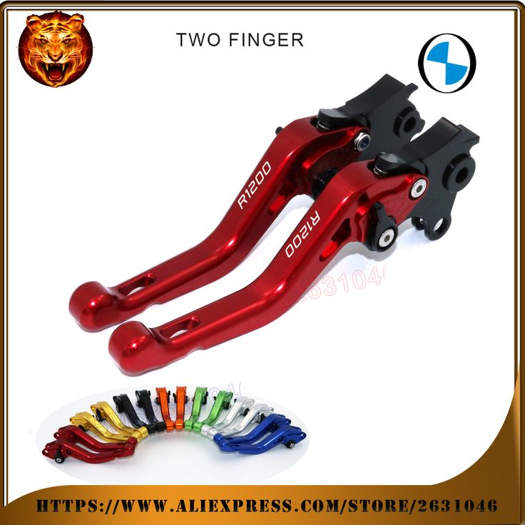 For BMW R 1200 GS 1200GS ADVENTURE RED LOGO BLACK  SILVER NEY STYLE  MOTOBIKE Motorcycle Adjustable Short Brake Clutch Levers