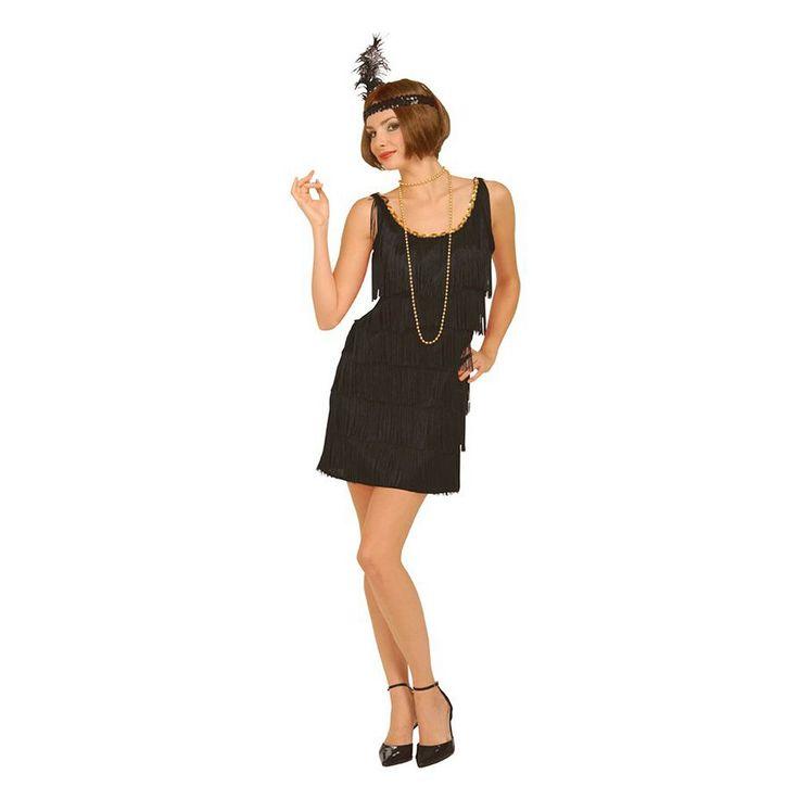 Plus Size Flapper Costume - Adult Plus, Women's, Size: 1XL, Black