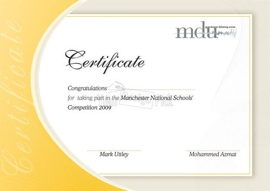Certificate design for mdu from YourDesignPick