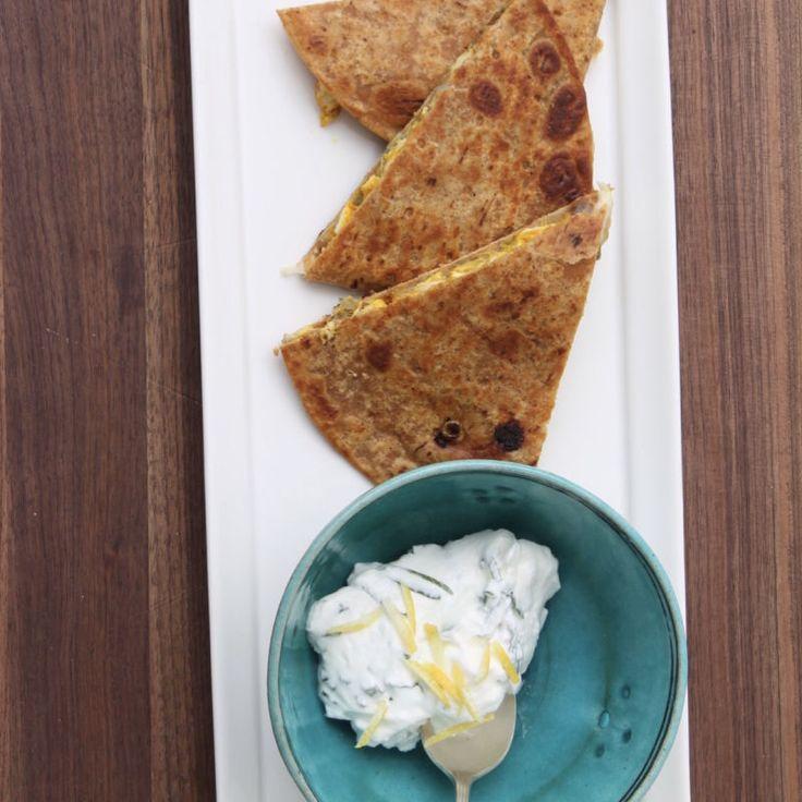 Flatout tandoori turkey quesadilla   Recipes   WW USA ...