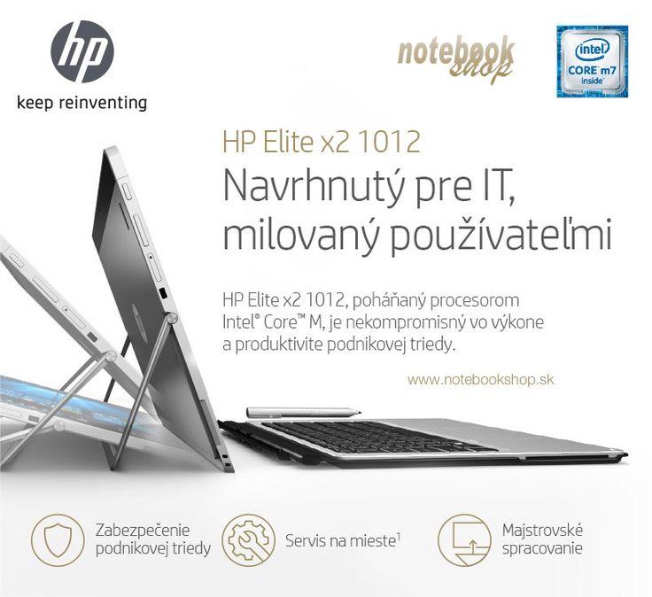 HP Elite x2 1012 - Výkonný notebook a odolný a bezpečný tablet (MIL-STD-810G test) v jednom ultraprenosnom zariadení.