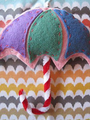 felt umbrella ornament