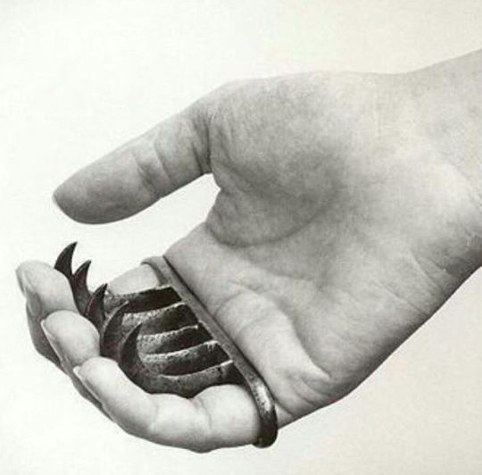 """Bagh Naka is a Hindu term for a weapon from India, which means """"tiger claws"""" in English. This claw-like weapon is made to fit the knuckles or has a hole on each end for the pinky and index finger to fit. This weapon has three to five curved blades that are concealed in the palm of the hand."""