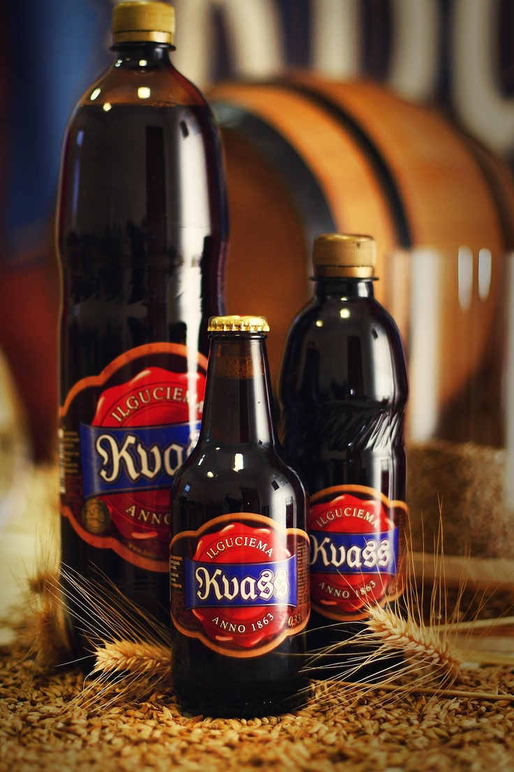 Kvass is a fermented beverage made from black or regular rye bread. The colour of the bread used contributes to the colour of the resulting drink. It is classified as a non-alcoholic drink by Russian standards, as the alcohol content from fermentation is typically less than 1.2%. Overall, the alcohol content is low (0.05% - 1.0%). It is often flavoured with fruits or herbs such as strawberries, raisins or mint. Kvass is also used for preparing a cold summertime soup called okroshka.