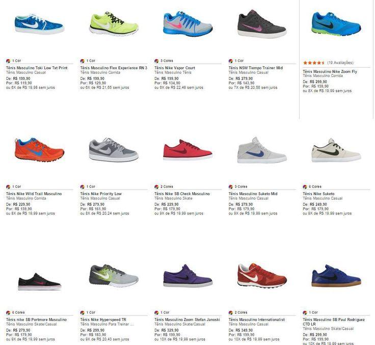 Nike SITE DA #NIKE com bons descontos! A partir de 119,90