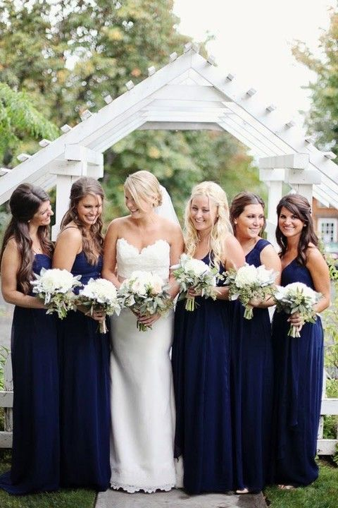 41 best images about fall bridesmaids dresses on for Navy dress for fall wedding