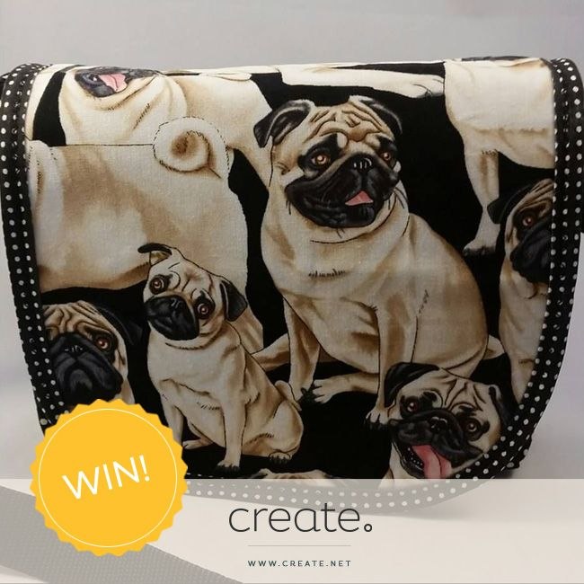 #WIN this amazing handmade pug messenger bag with #FreebieFriday! Enter over on the Create Facebook page. facebook.com/create