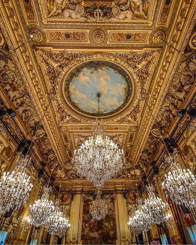 Congratulations To Spiritualwalker On The Spectacular Picture Of The Ceiling At The City Hall Of Lyon Baroque Architecture Luxury Decor Gothic Aesthetic
