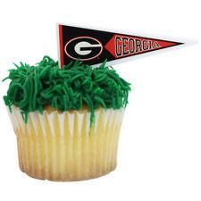 UGA Cupcakes: Hedges with a Pennant