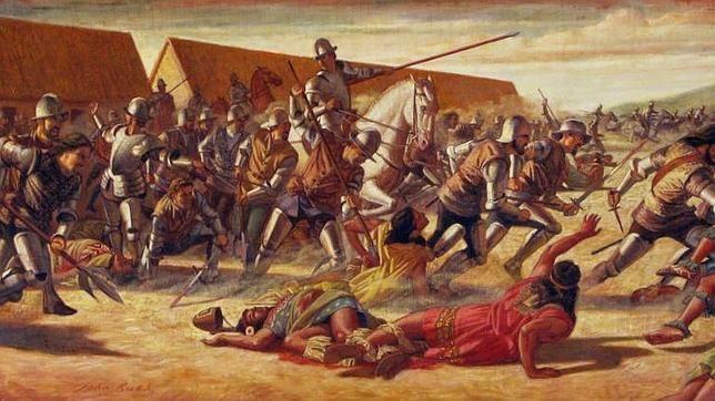 117 - El alférez mayor Gerónimo de Aliaga organizó la defensa de la ciudad en batallones cerrados de caballería e infantería dirigidos por oficiales llegados desde todas las ciudades cercanas.