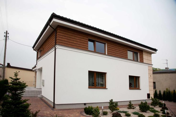 elewacja nowoczesnego domu