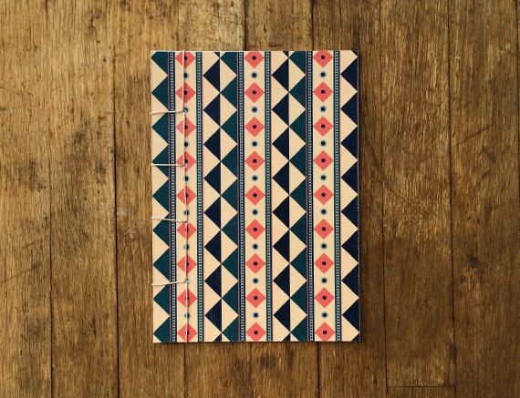 Japanese Bound A6 Notebook 'Minerva' geometric by TellThemStories