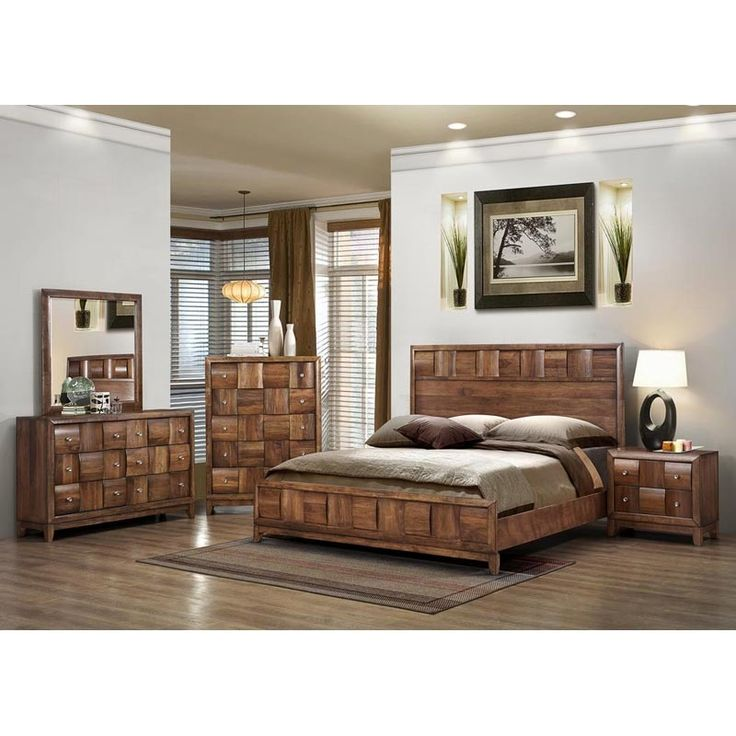 What A Wood This Bedroom Set Features Alternating Wood