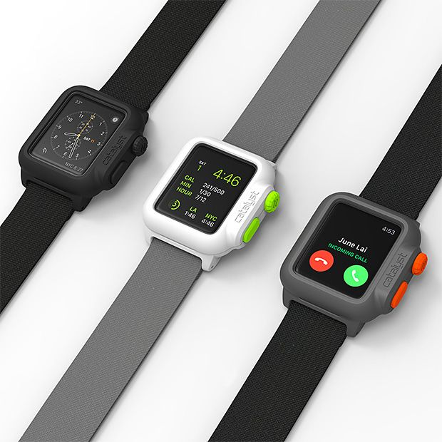 Catalyst Case for Apple Watch - It's a slim, waterproof case (IP-68 rated) that works seamlessly with the heart rate monitor, charging dock & all other watch accessories & functions.