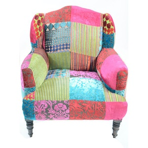 I want to make my own chair like this one.    Maharaja Velvet Chair now featured on Fab.