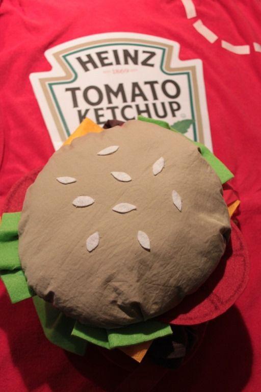 Carta Colla e Fantasia: Costume carnevale hamburger e ketchup