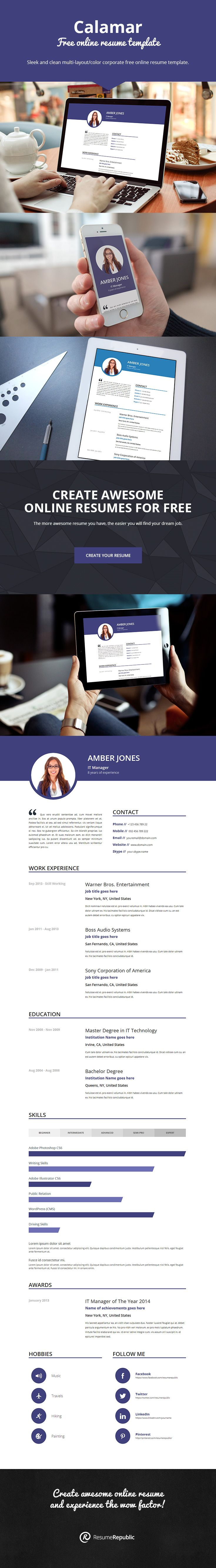 find this pin and more on free resume template - Find Free Resumes