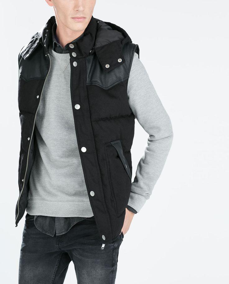 Image 2 of MIXED BACK WAISTCOAT from Zara