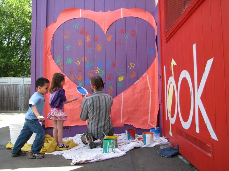 Mcmanus elementary school mural project chico state art for Elementary school mural ideas