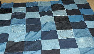 old jeans quilt
