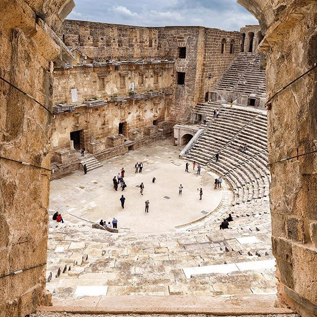 Aspendos was an ancient city in Pamphylia, Asia Minor, located about 40 km east of the modern city of #Antalya, #Turkey. It was situated on the Eurymedon River about 16 km inland from the Mediterranean Sea; it shared a border with, and was hostile to, #Side... with @turkey_home @inflowtravel