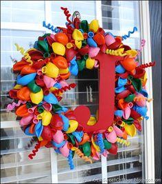 Birthday Balloon Wreath                                                                                                                                                      More