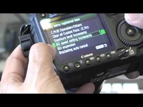 ▶ Canon 50D Tips/ Part1: Custom Menu Set - YouTube