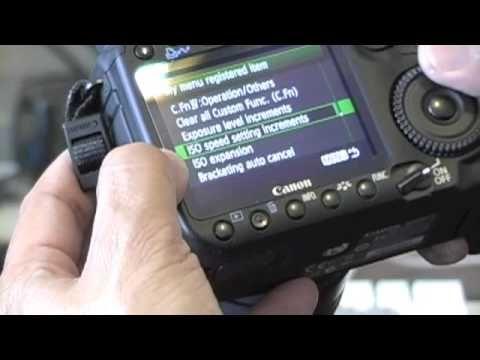▶ Canon 50D Tips/ Part1: Custom Menu Set - YouTube