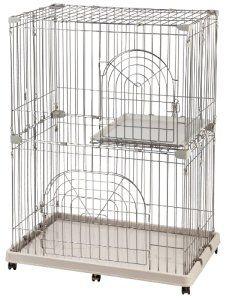 IRIS 2-Tier Wire Pet Cage, Gray by IRIS USA, Inc. http://amzn.to/2gpo14f