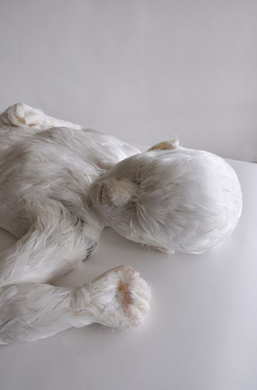 Lucy Glendinning, Feather Child, 2011.
