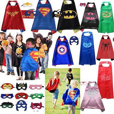 Super hero kids children cape mask #costume superman batman #spiderman #superhero,  View more on the LINK: http://www.zeppy.io/product/gb/2/272463596199/
