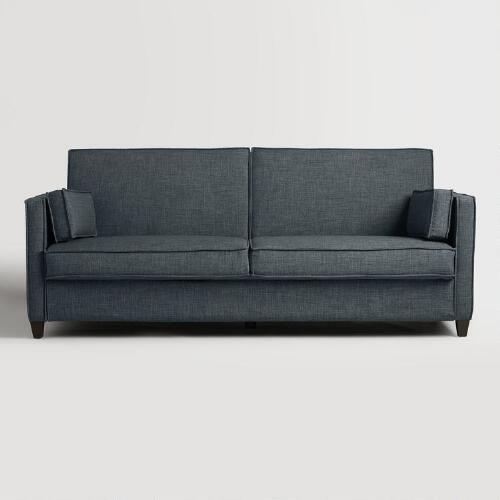 Indigo Blue Nolee Folding Sofa Bed   V2