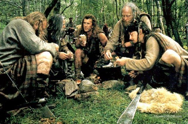 Braveheart publicity still of Brendan Gleeson, Mel Gibson, James Cosmo & David O Hara